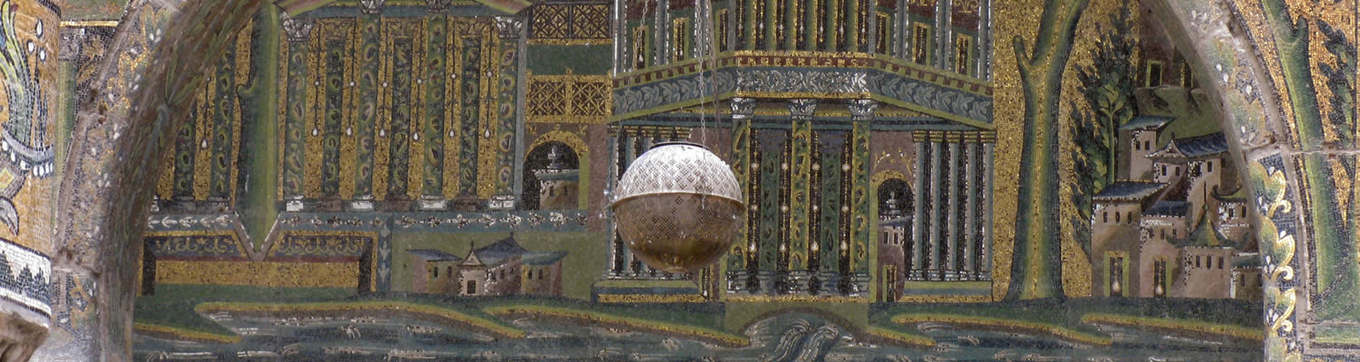 Damascus, Great Mosque, landscape panorama mosaic (Monumental art of the Christian and the Early Islamic East).