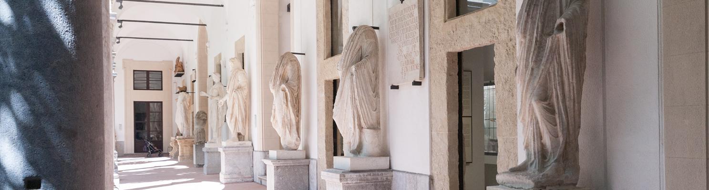 The major atrium of the Archaeological Museum of Palermo (image: Iolanda Carollo)
