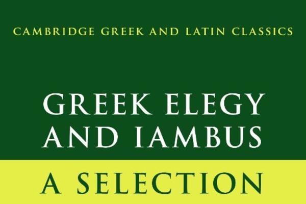 greek elegy and iambus cover
