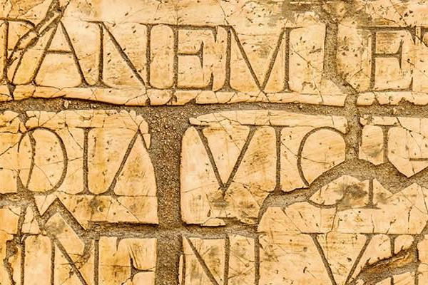 latin inscriptions and roman letters (Image credit: Shutterstock).