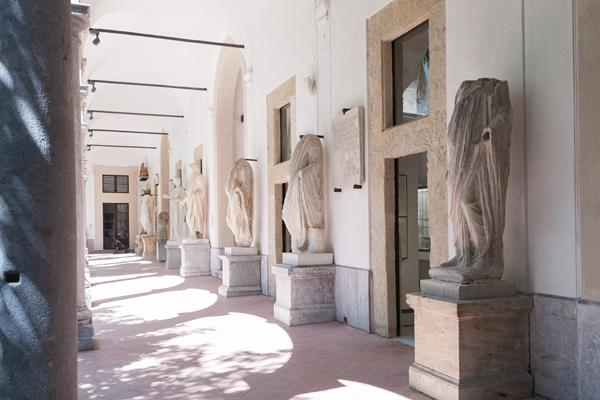 The major atrium of the Archaeological Museum of Palermo (image: Iolanda Carollo)