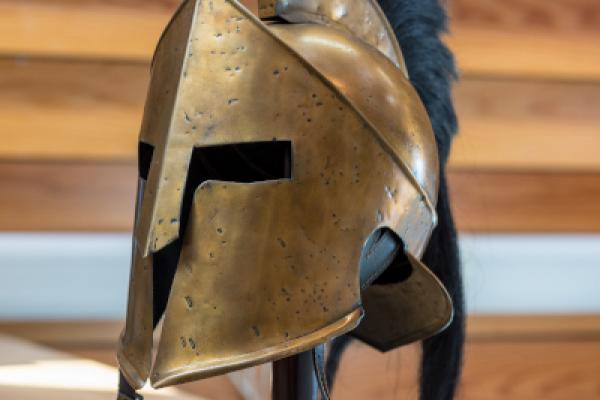 spartan helmet listingimage  stuart bebb  faculty of classics