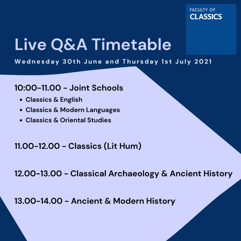 live qa timetable