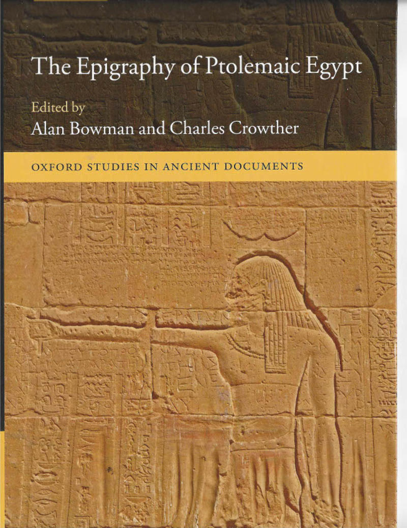 epigraphy of ptolemaic egypt