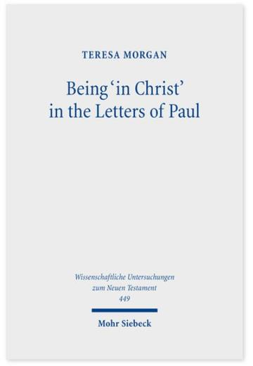 being in christ in the letters of paul cover