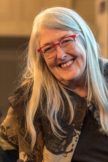 Prof. Mary Beard, Imagining the Divine: Art and the Rise of World Religions. Photo Stuart Bebb (c) TORCH, Oxford
