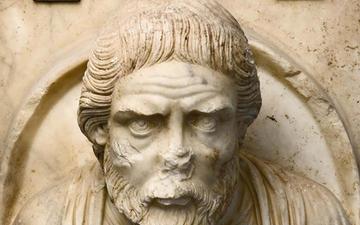 shield portrait, philosopher