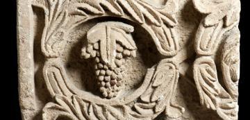 vine scroll frieze fragment from period iii altar platform at khirbet et tannur image credit juan orlandis habsburgo