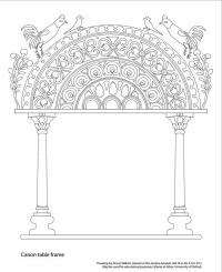 drawing garima gospels canon table