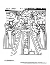 drawing harp of marry saints